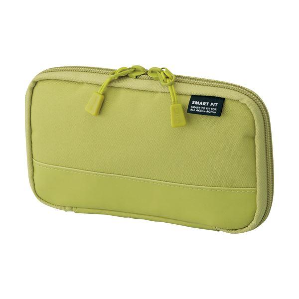 バッグの中でもかさばらないコンパクト設計 まとめ リヒトラブ コンパクトペンケースイエローグリーン A-7687-6 黄 お買い得品 1個 緑 店内全品対象 ×10セット