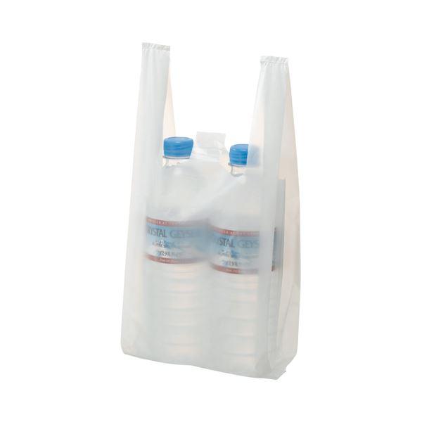 (まとめ) TANOSEE 乳白レジ袋 8号 ヨコ155×タテ330×マチ幅95mm 1パック(100枚) 【×100セット】