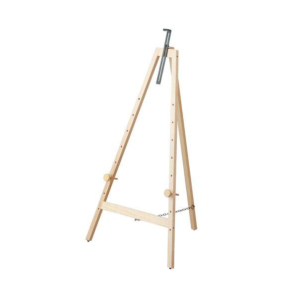 (まとめ) 木製イーゼル Mサイズワイド ナチュラル木目 EZ-102NM 1台 【×3セット】