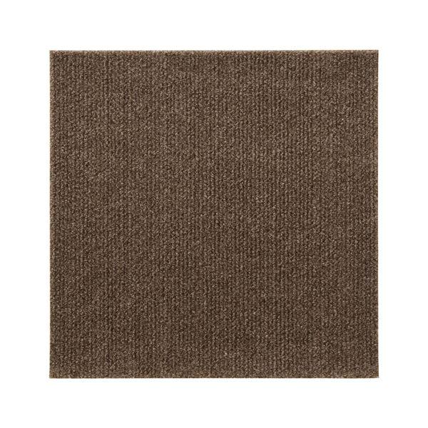 (まとめ) 吸着タイルマット/タイルカーペット 【ブラウン】 30×30cm 9枚入り 汚れ防止&防音 『ぴたQ』 【12個セット】 茶
