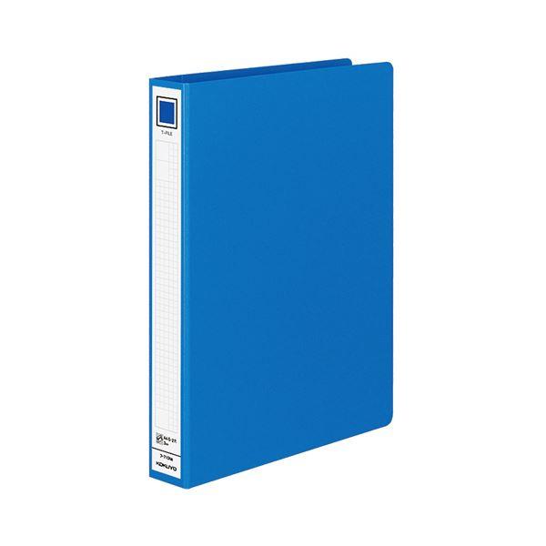 (まとめ) コクヨ Tファイル(色厚板紙) 片開き A4タテ 300枚収容 背幅46mm 青 フ-710NB 1冊 【×10セット】