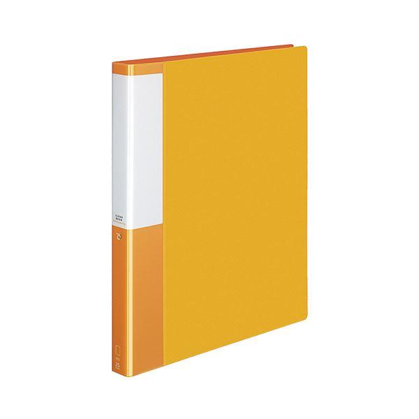(まとめ) コクヨ クリヤーブック(クリアブック)(POSITY) 替紙式 A4タテ 30穴 25ポケット付属 背幅33mm オレンジ P3ラ-L730YR 1冊 【×10セット】