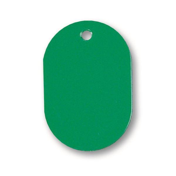 (まとめ) ソニック 番号札 小 無地 緑NF-751-G 1セット(100個:10個×10パック) 【×10セット】