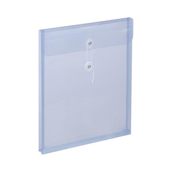 (まとめ) スガタ エンベロップ(ひも付) A4マチ付 ブルー EBA4BL 1パック(5枚) 【×30セット】 青