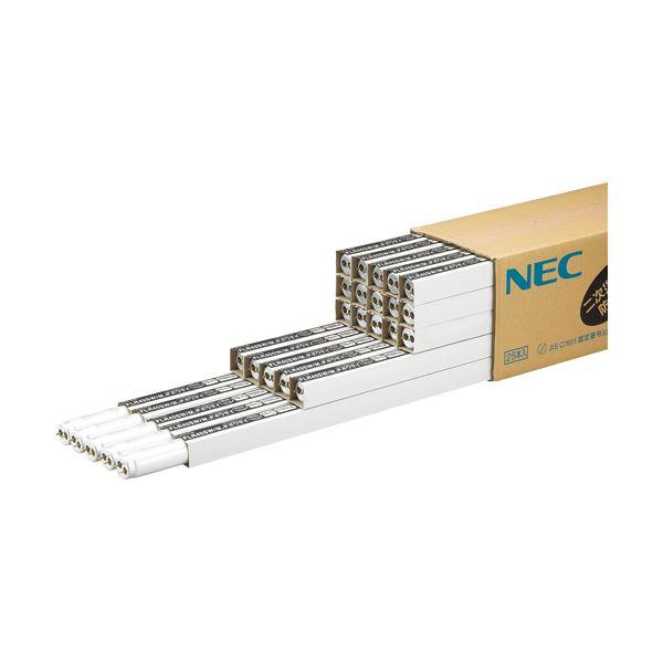 NEC 防災用残光蛍光ランプ飛散防止タイプ 直管ラピッドスタート形 40W形 白色 FLR40SW/M.Pボウサイ 1パック(25本)