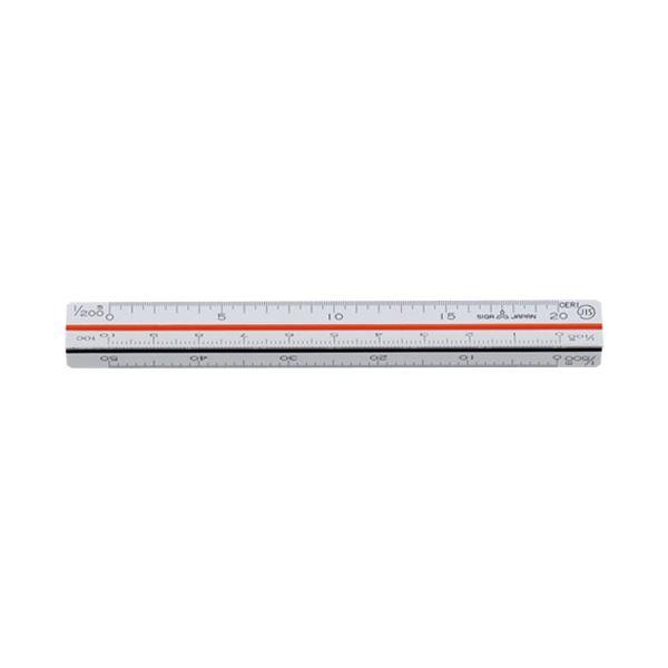 (まとめ)内田洋行 三角スケール ポケット用10cm 1-882-0005【×30セット】