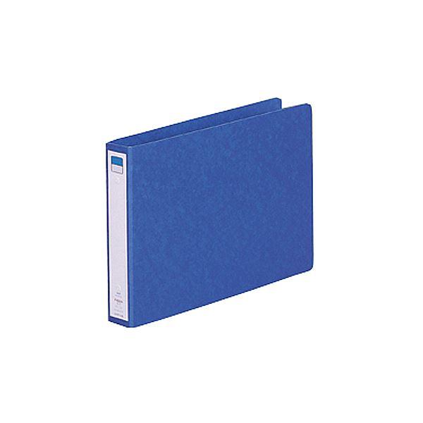 (まとめ) リヒトラブ リングファイル(ツイストリング) B5ヨコ 2穴 200枚収容 背幅35mm 藍 F-832UN-5 1冊 【×30セット】