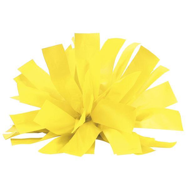 (まとめ)ワイドハンドフリーチアポンポン パステルイエロー 【×10個セット】 黄