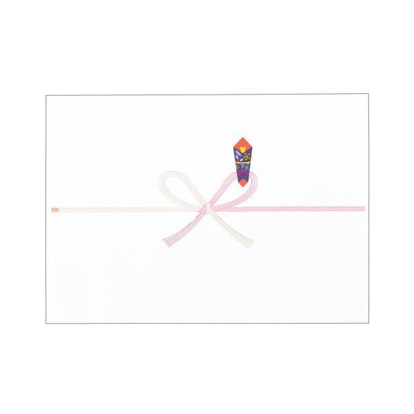 (まとめ) 寿堂 祝のし紙 花結 B4 コピー用FSC森林認証紙 55702 1パック(100枚) 【×10セット】