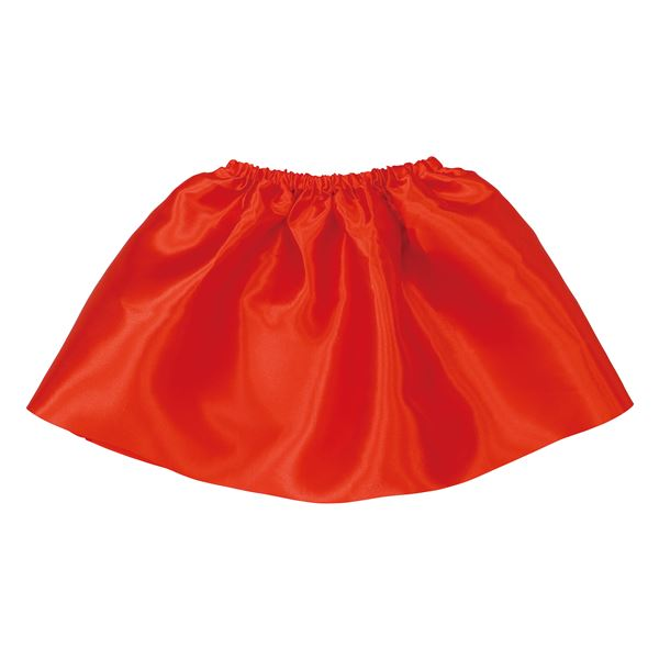 (まとめ)サテンスカート 赤 【×10個セット】