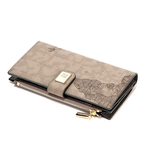 PRIMA CLASSE(プリマクラッセ) P-7503 薄型二つ折り長財布 (グレイ)