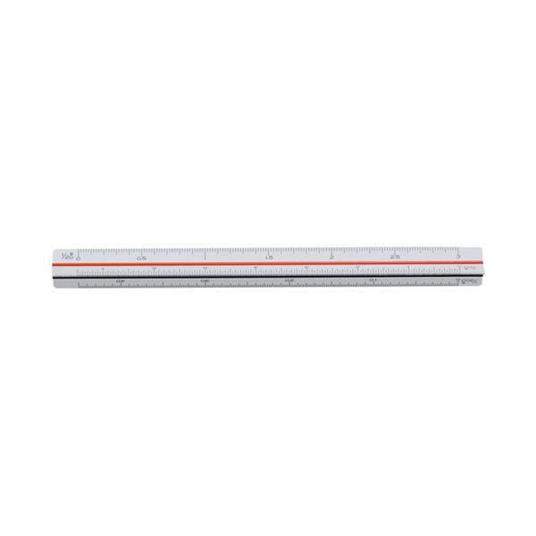 (まとめ)内田洋行 三角スケール 建築士用15cm 1-882-0602【×30セット】