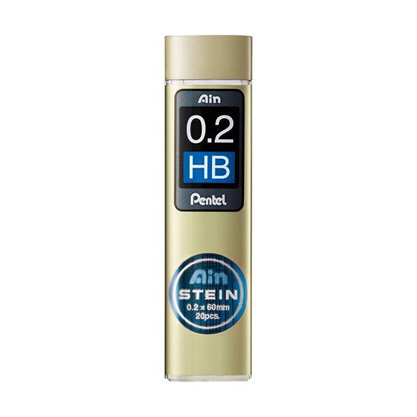 (まとめ) ぺんてる シャープ替芯 アインシュタイン 0.2mm HB C272W-HB 1個(20本) 【×50セット】