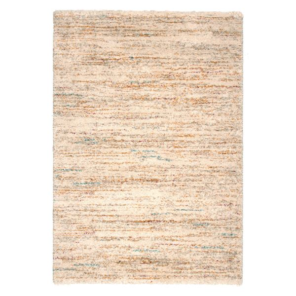ベルギー ラグマット じゅうたん カーペット 敷き物 /絨毯 【140cm×200cm アイボリー】 長方形 高耐久 ウィルトン 『SHERPA COSY』 〔リビング〕 乳白色