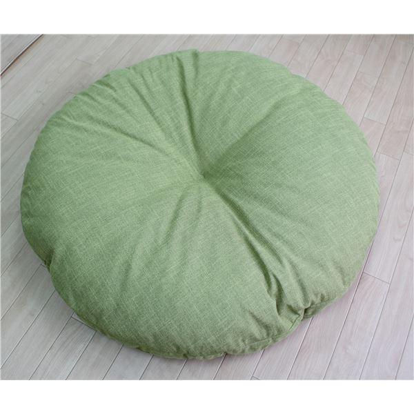 アキレス 丸型 (円形 ラウンド) 座布団/円形 (丸型 ラウンド) クッション 【大 グリーン】 100×100×5cm ボリューム感 ソフトな肌触り 緑