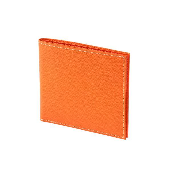 FRUH(フリュー) 日本製 極薄 2つ折り スマートウォレット GL012L-OR オレンジ