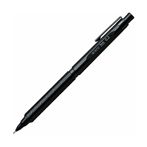 ぺんてる シャープペンシルorenznero(オレンズネロ) 0.2mm (軸色:ブラック) PP3002-A 1本 【×10セット】 黒