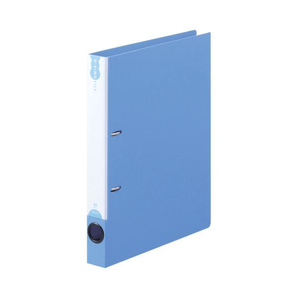 (まとめ) TANOSEEDリングファイル(PP表紙) A4タテ 2穴 200枚収容 背幅38mm ブルー 1セット(10冊) 【×10セット】 青