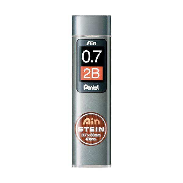 (まとめ) ぺんてる シャープ替芯 アインシュタイン 0.7mm 2B C277-2B 1個(40本) 【×50セット】