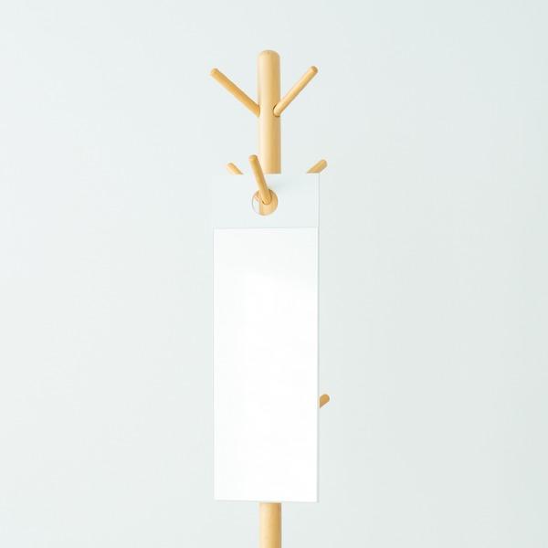 【4枚セット】フックミラー(60)(ホワイト/白) 幅20cm×高さ60cm ウォールミラー/壁掛け/鏡/飛散防止加工/スリム/姿見/省スペース/日本製/モダン/業務用/完成品/NK-600 白