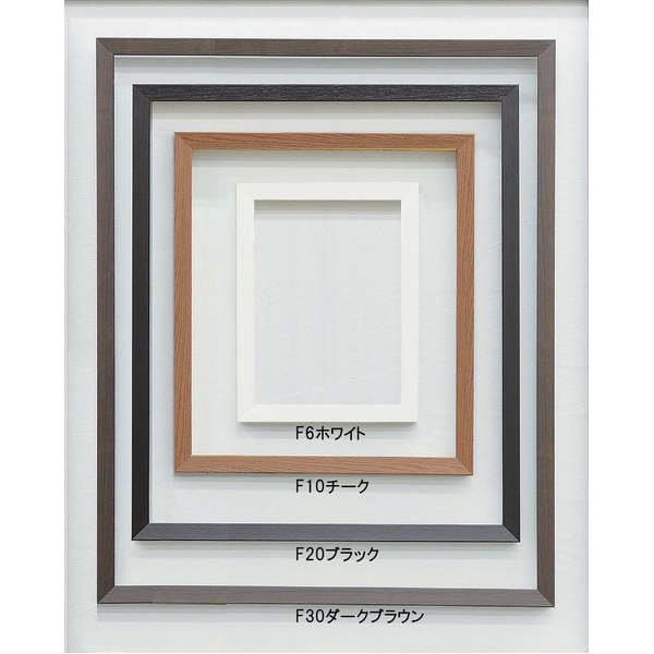 【仮縁油絵額】高級仮縁・キャンバス額 ■木製仮縁F15(652×530mm) ホワイト 白