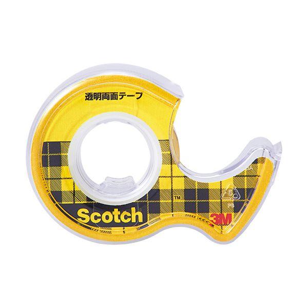 (まとめ) 3M スコッチ 透明両面テープライナーなし 小巻 18mm×4m W-18 1巻 【×30セット】