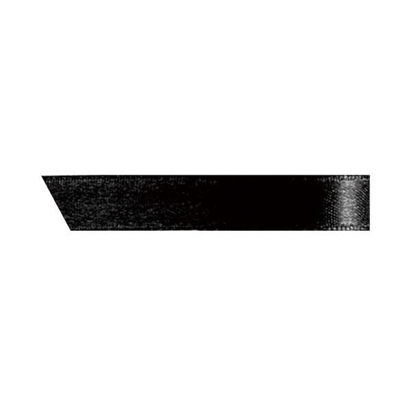 (まとめ) ヘッズ 片面サテンリボン幅10mm×30m ブラック 1090R 1巻 【×30セット】 黒