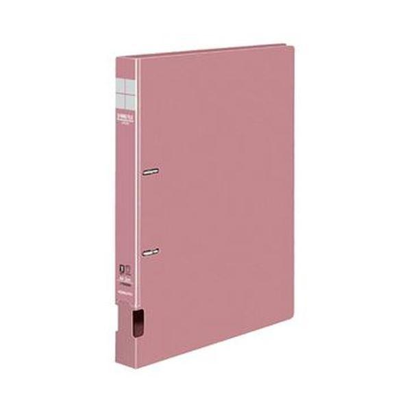 (まとめ)コクヨ DリングファイルS型再生PP表紙 A4タテ 2穴 200枚収容 背幅34mm ピンク フ-FD420NP 1セット(10冊)【×3セット】