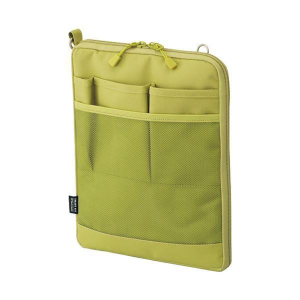 (まとめ) リヒトラブ SMART FITACTACT バッグインバッグ (タテ型) A5 イエローグリーン A-7682-6 1個 【×10セット】 緑 黄