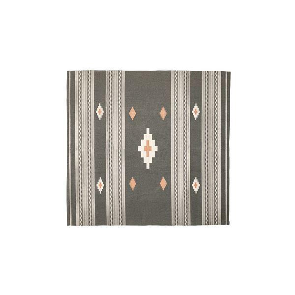 モダン ラグマット じゅうたん カーペット 敷き物 /絨毯 【180×180cm TTR-162A】 正方形 綿 インド製 〔リビング ダイニング フロア 居間〕