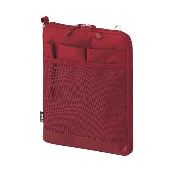 (まとめ) リヒトラブ SMART FITACTACT バッグインバッグ (タテ型) A5 レッド A-7682-3 1個 【×10セット】 赤
