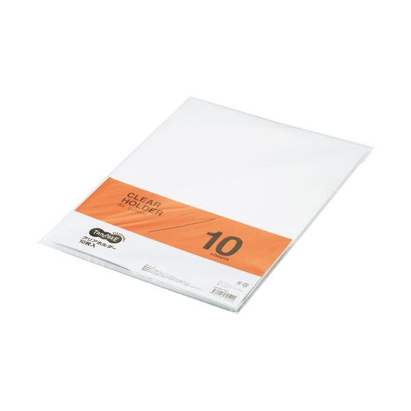 (まとめ) TANOSEE クリアホルダー A4 クリア 1セット(30枚:10枚×3パック) 【×30セット】