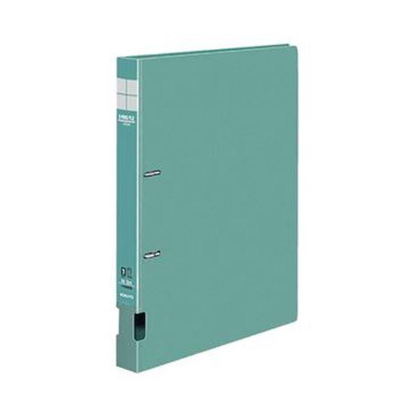 (まとめ)コクヨ DリングファイルS型再生PP表紙 A4タテ 2穴 200枚収容 背幅34mm 緑 フ-FD420NG 1セット(10冊)【×3セット】
