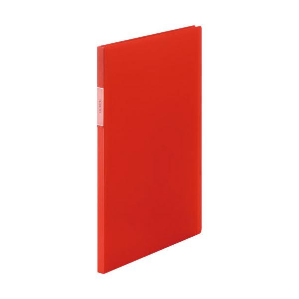 (まとめ)キングジム FAVORITESクリアーファイル(透明) A4タテ 20ポケット 背幅12mm オレンジ FV166Tオレ 1冊 【×20セット】