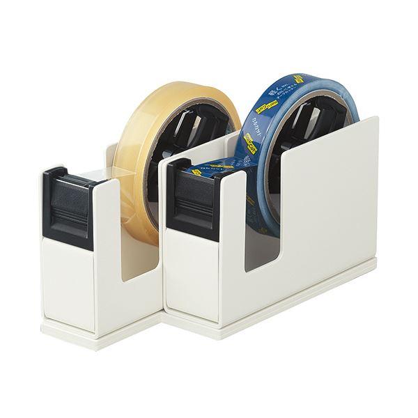 (まとめ) コクヨ テープカッターカルカット(2連タイプ) ライトグレー T-SM110LM 1台 【×5セット】