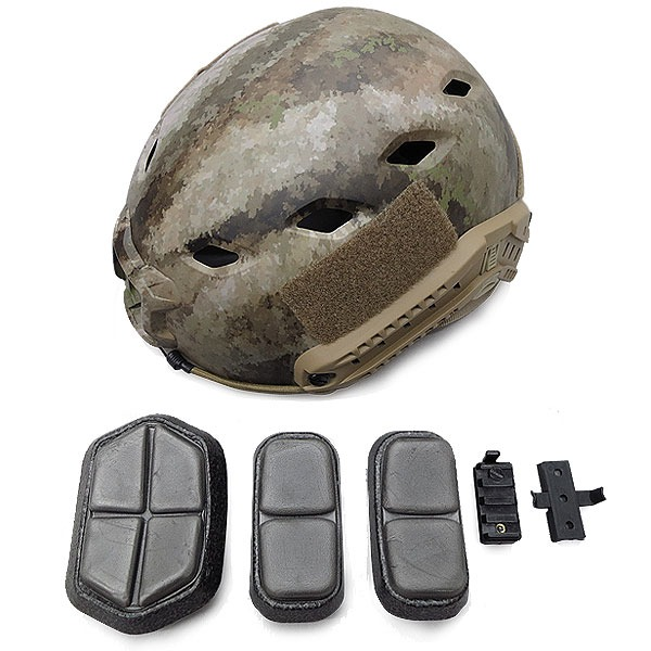 価格交渉OK送料無料 アメリカ空挺部隊FASTヘルメットABSレプリカ 高級な A-TACS AU