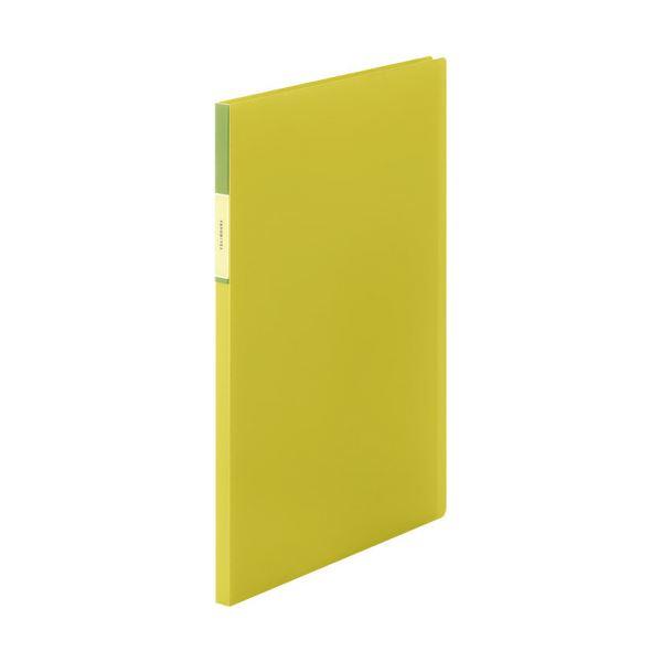 (まとめ)キングジム FAVORITESクリアーファイル(透明) A4タテ 20ポケット 背幅12mm 黄色 FV166Tキイ 1冊 【×20セット】