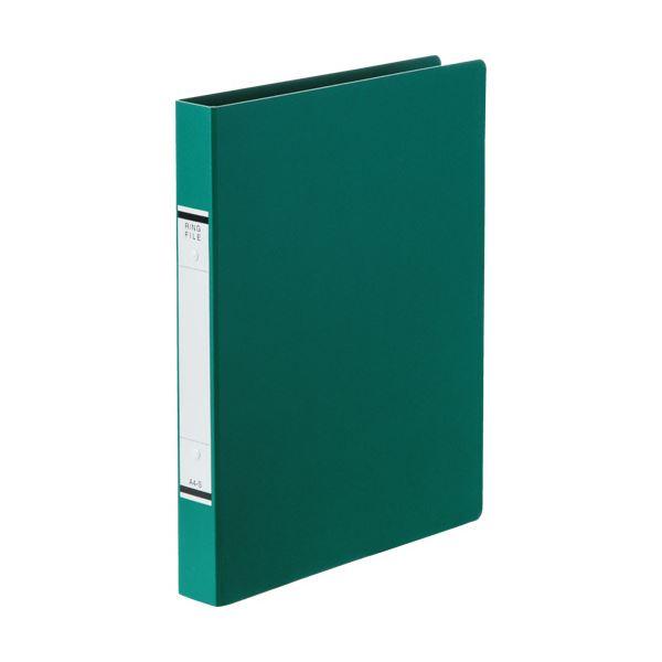 (まとめ) TANOSEEOリングファイル(紙表紙) A4タテ 2穴 220枚収容 背幅36mm 緑 1冊 【×50セット】
