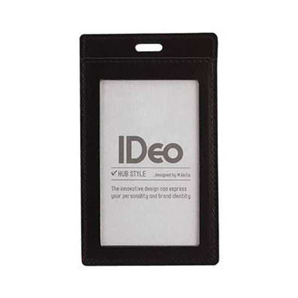(まとめ)コクヨ ネームカードケース(IDeoHUBSTYLE)革製 名刺・IDカード用 タテ型 黒 NM-CK196D 1枚【×5セット】
