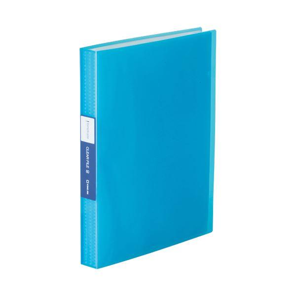 (まとめ) キングジム シンプリーズクリアーファイル(透明) A4タテ 60ポケット 背幅32mm 青 TH184TSPTB 1冊 【×30セット】