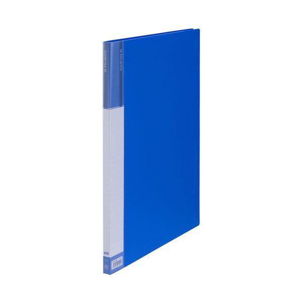 (まとめ) TANOSEEクリヤーファイル(台紙入) A3タテ 20ポケット 背幅15mm ブルー 1冊 【×30セット】 青