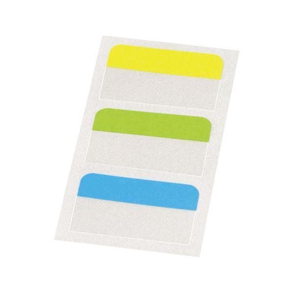 (まとめ) ライオン事務器ふせん[リペタ] 貼ってはがせる紙付インデックス 45mm幅 28×45mm 3色 RL-321パック(3冊) 【×30セット】