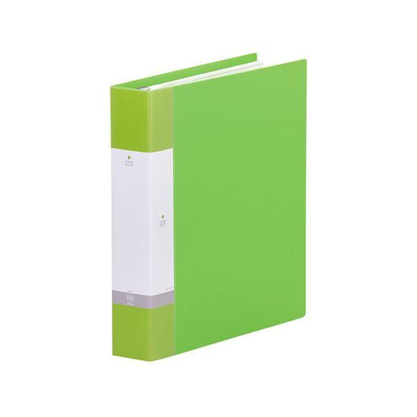 (まとめ)LIHITLAB クリヤーブック リクエストG3806-6 A4S黄緑【×5セット】