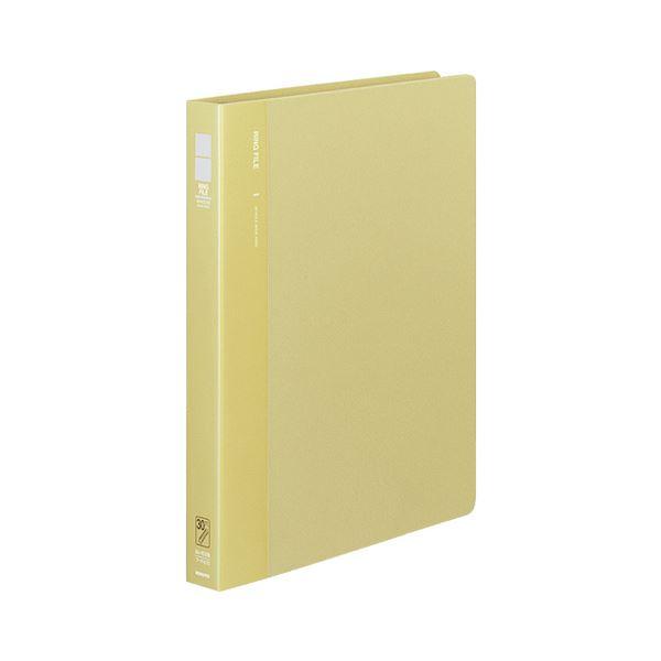 (まとめ) コクヨ リングファイル 発泡PP表紙 A4タテ 30穴 170枚収容 背幅33mm 黄 フ-F470Y 1冊 【×10セット】