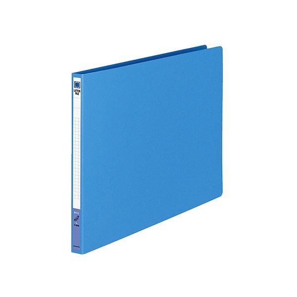 (まとめ) コクヨ レターファイル(色厚板紙) B4ヨコ 120枚収容 背幅20mm 青 フ-559B 1冊 【×30セット】
