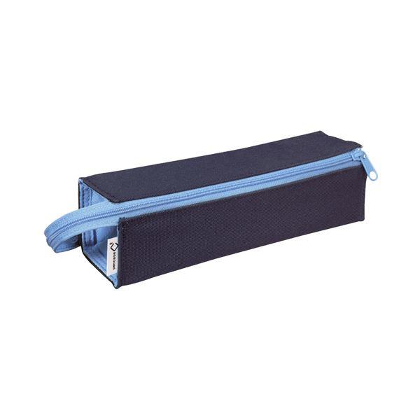 (まとめ)コクヨ ペンケース(C2)トレータイプ ネイビー×アクアブルー F-VBF122-1 1個【×10セット】 青