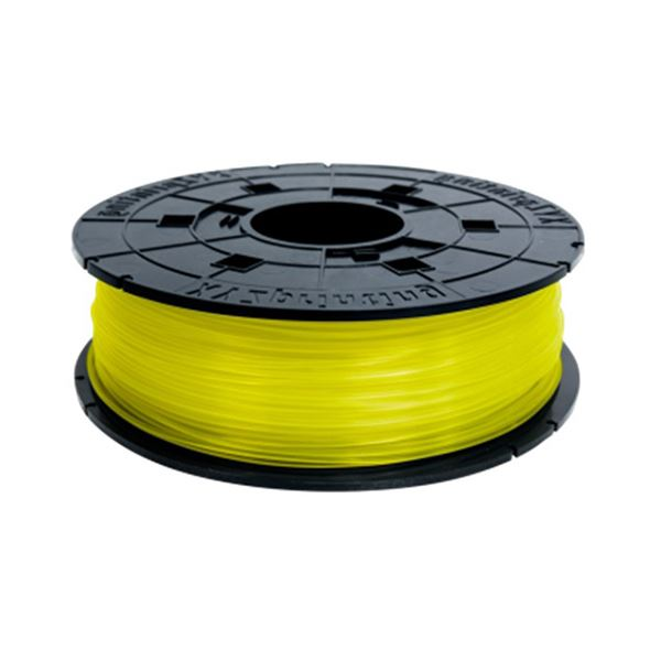 (まとめ)XYZプリンティングジャパン ダヴィンチJr. 専用 フィラメント(PLA樹脂) クリアイエロー 600g RFPLCXJP03C 1個【×3セット】 黄