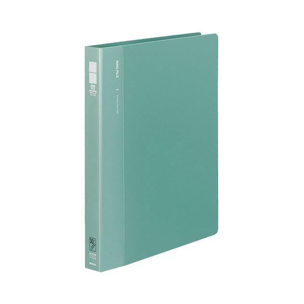 (まとめ) コクヨ リングファイル 発泡PP表紙 A4タテ 30穴 170枚収容 背幅33mm 緑 フ-F470G 1冊 【×10セット】