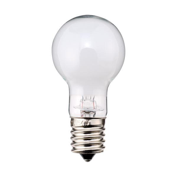 (まとめ) TANOSEE ミニクリプトン電球 40W形 E17口金 ホワイトタイプ 1パック(6個) 【×10セット】 白