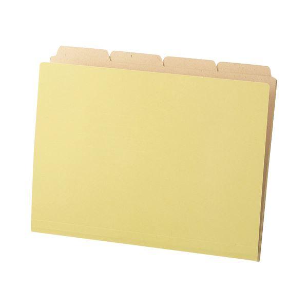 (まとめ) TANOSEE カットフォルダー4山(クラフト厚紙タイプ) A4 1パック(40冊) 【×10セット】